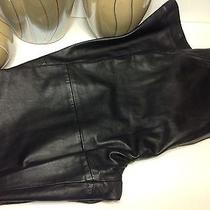 Style & Co  Macy's Black Leather Motorcycle Pants 8 Lined Photo