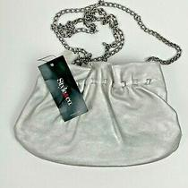 Style & Co. (Macy's) Clutch Purse Pewter With Silver Chain Shoulder Strap Photo