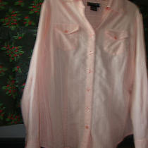 Style & Co (Macy's) Size 16w Pink Stripe With Silver Thread Photo