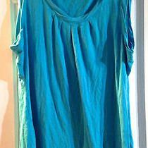 Style & Co ( Macy's) Tank Blouse Turquoise Size  Xl Gently Used Photo