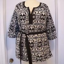 Style & Co.  (Macy's) White/black Blouse Sz 18w New         254 Photo