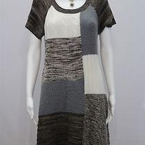 Style & Co Misses Medium Color Block Acrylic Ss Acrylic Knit Sweater Dress Photo