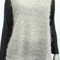 Style & Co. Misses Womens Crew Sweatshirt Sz M Black Two Tone Sale Designer Us Photo