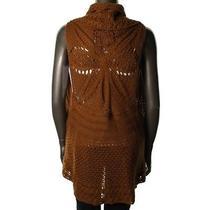 Style & Co. New Brown Open Stitch Sleeveless Shawl Sweater Vest Plus 3x Bhfo Photo