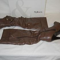 Style & Co New Womens Epic Brown Heel Boots 5.5 M Shoes Nwb Photo