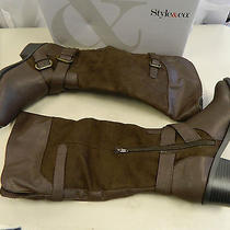 Style & Co New Womens Ralley Dark Brown Boots 6 M Shoes Photo