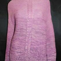 Style & Co Nwt Purple Marled Cable Knit Crew Neck Pullover Sweater Sz L 59 Photo