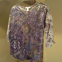 Style & Co Petite Sequined Shirt Womens Size Ps  Nwt Macys Photo