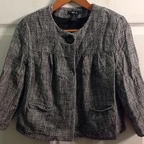 Style & Co. Petite Women's Black and White Woven Cropped Jacket Size 8p Photo