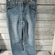 Style & Co Petite Women's Rivet Accent Mid Rise Ankle Pants Jeans Blue Size 8ps Photo