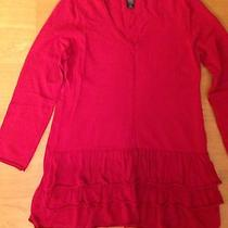Style & Co. -  Red Knit Tunic Sweater Size Pm Photo