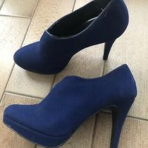 Style & Co. Royal Blue Suede Platform Almond Toe 4