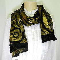 style&co Scarf Gold Metallic Scarf Photo