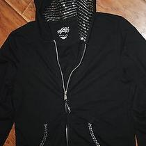 Style & Co Sequined Hoodie     L Photo