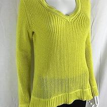 Style & Co. Sheer Crochet v-Neck Sweater Women's M Photo