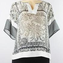 Style & Co. Short Sleeve Chiffon Print Blouse Capri Scarf Pl Lulu Photo
