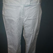Style & Co Size 10 Stretch White Capris Excellent Condition Photo