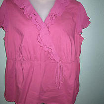 Style & Co Size 22w Womens Short Sleeve Top Excellent Condition Photo