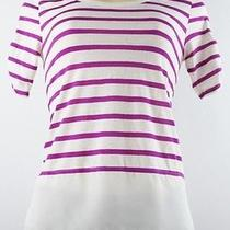 style&co. Striped High Low Top Fuchsia Cream Size Pp Photo