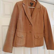 Style & Co Suede Leather Camel Tan Jacket Size M Guc Photo