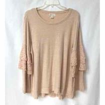 Style & Co Top Pink Ruffle Sleeve Sweater Blush Knit Nwt Women's Plus Size 1x Photo