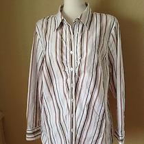 Style & Co. Woman Stripe Blouse Size 18w 65% Cotton/30% Poly/3% Spandex/2% Other Photo