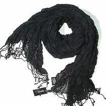 style&co. Women Crinkle Crochets Combo Fringed Scarf 13