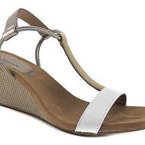 style&co. Women's Mulan T-Strap Wedge Sandals French Vanilla Size 7 (B m) Photo