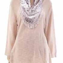 Style & Co Women's Sweater Peony Blush Pink Size 3x Plus Velvet Scarf 79 108 Photo