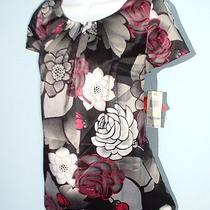 style&co.women Sz 4 Stretch Floral Tunic Top Nwt 49 Photo