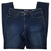 Style & Co Womens Dark Wash Skinny Leg 5 Pocket Blue Denim Jeans Size 8 Photo