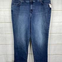 style&co Womens Plus 22w Blue Mid Rise Denim Boyfriend Ankle Jeans Medium Nwt Photo