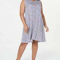 Style & Co. Womens Plus Tank Star Print Sleeveless Crew Neck Shift Dress Photo