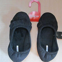 Style & Co. Womens Slippers Black Mocassins Size Small 5 6 Photo