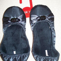 Style & Co. Womens Slippers Black Mocassins Size Small 6 6.5 Photo