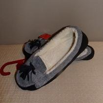 Style & Co. Womens Slippers Gray & Black Mocassins Size Xl 11/12 Photo