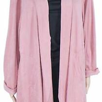 Style & Co Womens Sweater Blush Pink Size 1x Plus Faux-Suede Cardigan 89 006 Photo