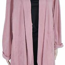 Style & Co Womens Sweater Blush Pink Size 3x Plus Cardigan Faux-Suede 89 228 Photo