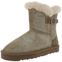 Style & Co. Womens Tiny 2 Gold Suede Winter Boots Shoes 8 Medium (Bm) Bhfo 0132 Photo