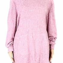 Style & Co Womens Top Blush Pink 3x Plus Marled Ribbed Knit Media Pocket 56 004 Photo