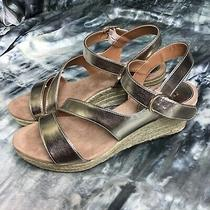 Style & Co. Womens Xenaa Open Toe Casual Slingback Sandals Gold Size 8m Photo