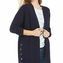 Style & Company Womens Blue Long Sleeve Open Cardigan Sweater Size Pm Photo