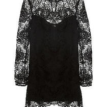 Style Stalker Black Lace Moss Short Sexy Shift Long Sleeve Dress Size S Formal Photo