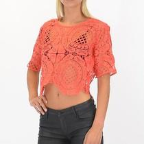Style Stalker Honk Kong Top in Coral Size Medium -Free Shipping Photo