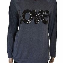 Styleco. Grey Embellished Love Sweatshirt Express Love Size L Photo