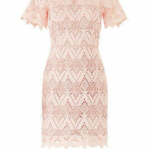 Stylestalker Women's Dress Pink Size Small S Sheath Geometric Crochet 280- 673 Photo