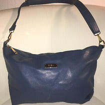 Stylish Bcbg Paris Designer Periwinkle Blue Vegan Crossbody/shoulder Bag Purse Photo