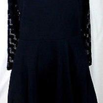 Stylish Black Mesh Polka Dot Express Little Black Dress Lbd Sp Photo