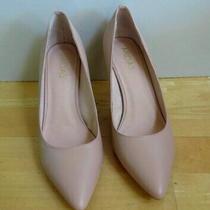Stylish Blush Leather Heels Shoes From Midas - Size 38 Photo