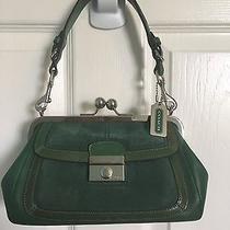 Stylish Coach Green Leather/suede Handbag Photo